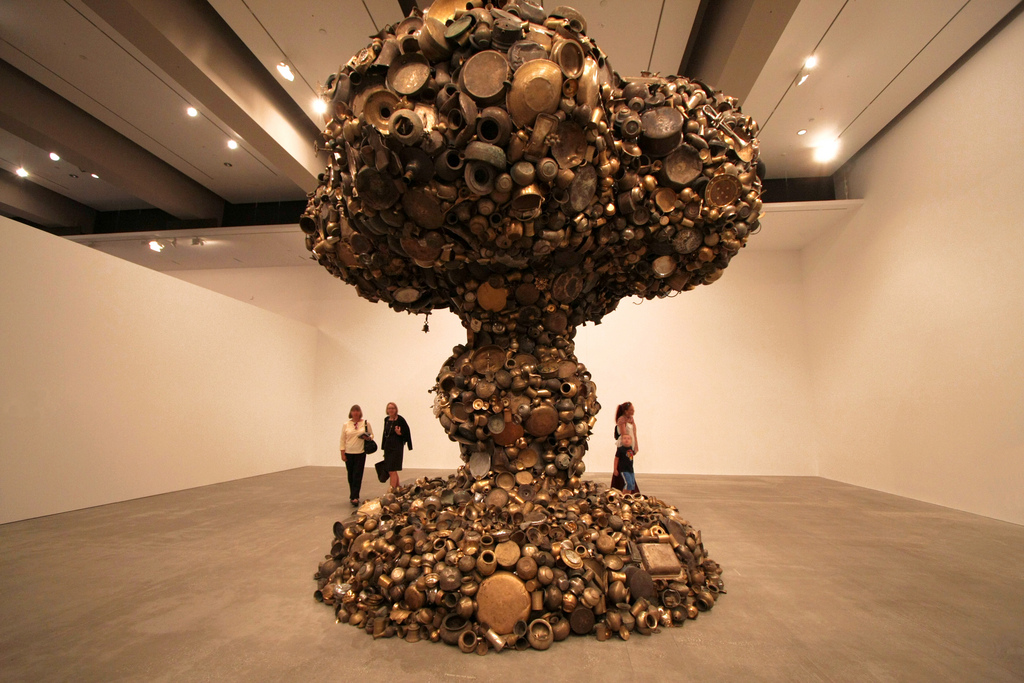 Giant Mushroom Cloud Made From Pots And Pans Recyclenation