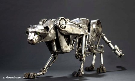 Andrew Chase's Mechanical Sculpture Safari | RecycleNation