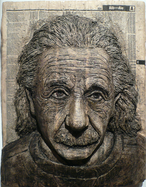 Incredible phone book carvings of celebrity faces recyclenation