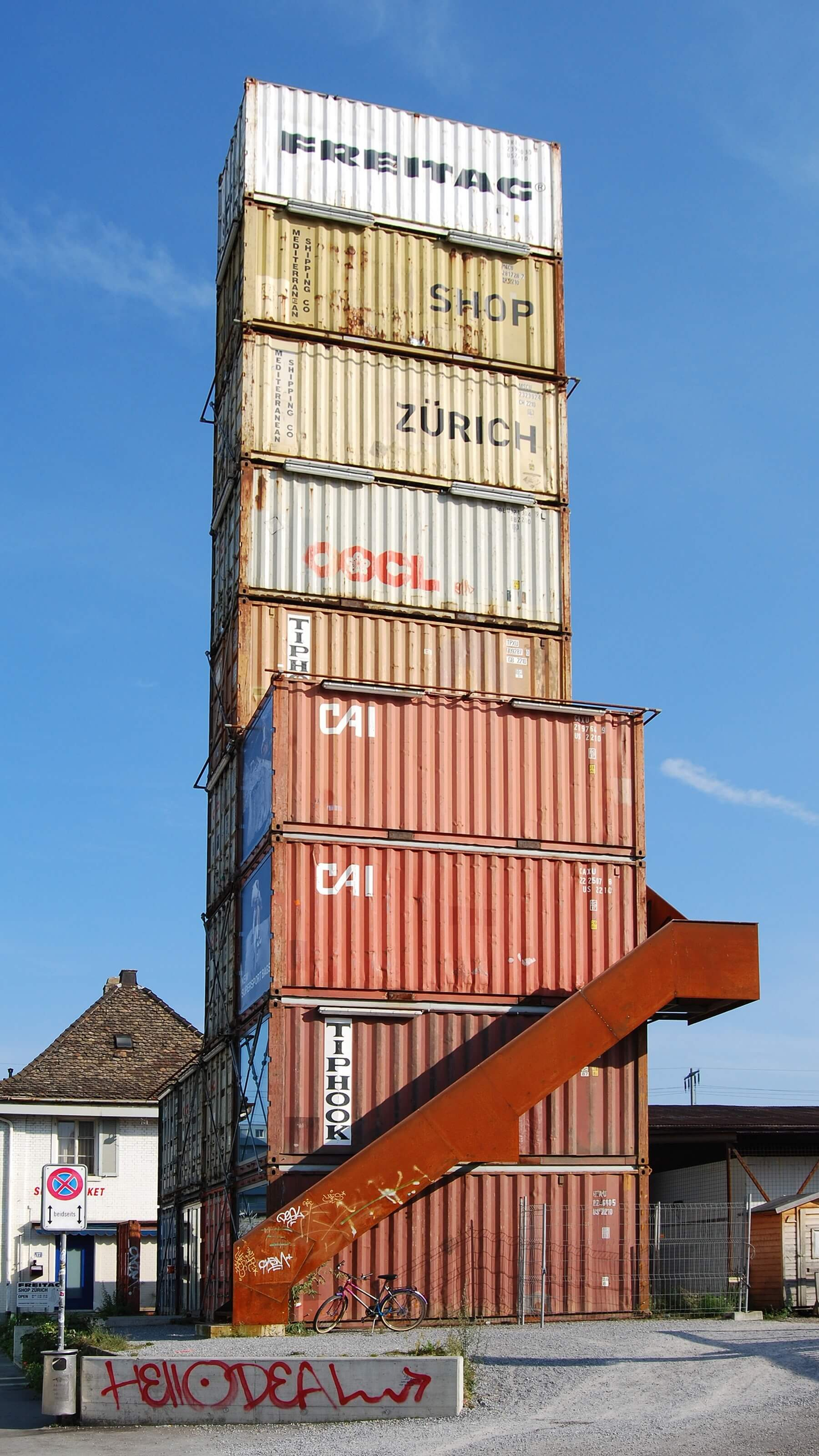5freitag Ten Recycled Shipping Container Buildings