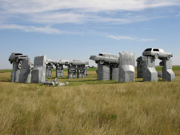 1 Carhenge Seven Stonehenges Made from Recycled Materials