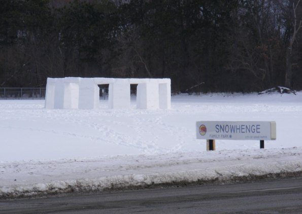 7 snowhenge2 Seven Stonehenges Made from Recycled Materials