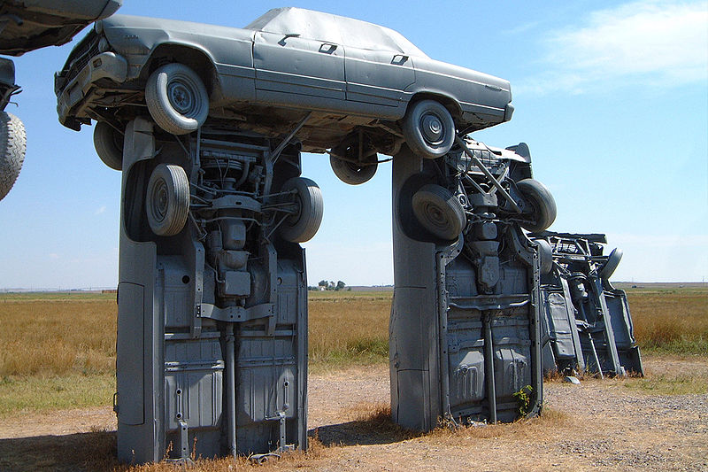 Carhenge Seven Stonehenges Made from Recycled Materials