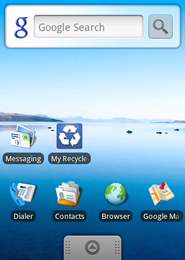 android screen 1 My Recycle List   Mobile App for Recycling