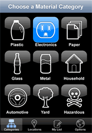 iphone screen 1 My Recycle List   Mobile App for Recycling