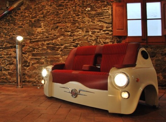 When Cars are Repurposed as Furniture and Flower Beds RecycleNation