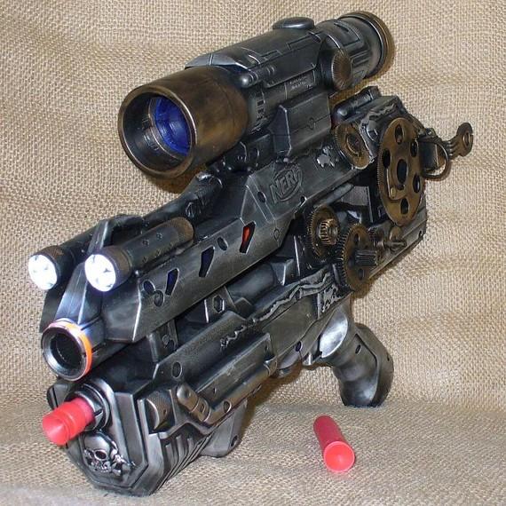 The gallery for --> Real Guns That Look Like Nerf Guns Minigun Bullet Wound