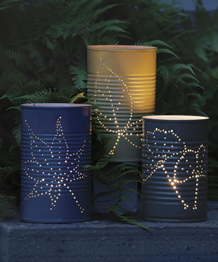 How to make a recycled tin can lantern recyclenation for Recycled paper lantern