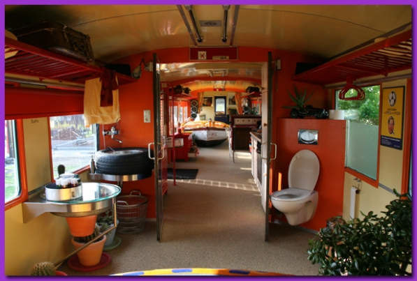 Ten repurposed railroad cars recyclenation for Train hotel amsterdam