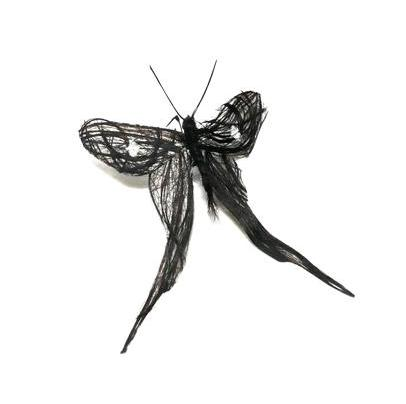black butterfly Insects Created from Recycled Human Hair