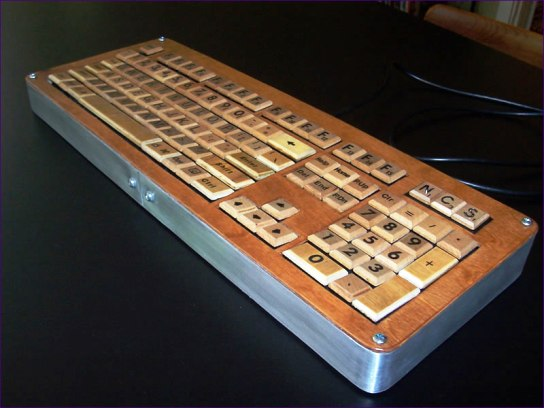 keyboard3 Ten Creative Ways to Recycle Scrabble Tiles