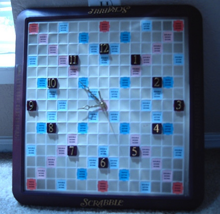 scrabble clock Ten Creative Ways to Recycle Scrabble Tiles