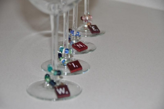 wine charms Ten Creative Ways to Recycle Scrabble Tiles