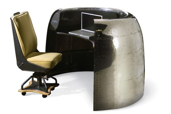 Warplanes Transformed Into Office Furniture RecycleNation - 20 unique pieces of furniture made from recycled airplane parts