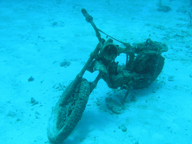 Sunken Cars 5. motorcycle