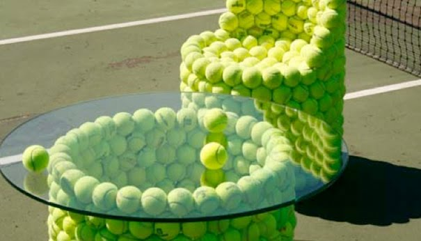 Weu0027ve Followed Up On That Idea And Come Up With 10 Extremely Clever  Furniture Items Made Out Of Old Tennis Balls.