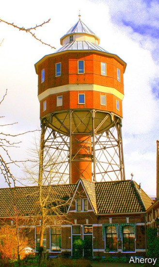 groningen Seven Water Towers Transformed into Houses