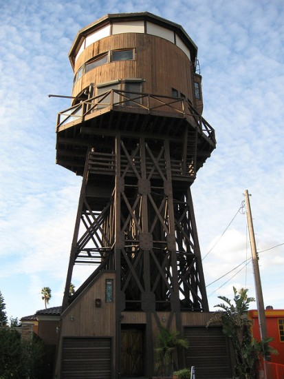 huntington below Seven Water Towers Transformed into Houses