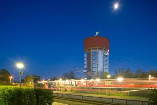 jaegersborg night Seven Water Towers Transformed into Houses