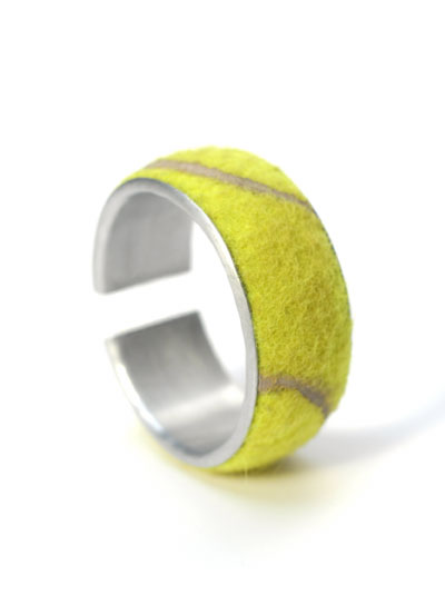 tennis ball bracelet Ten Creative New Uses for Old Tennis Balls