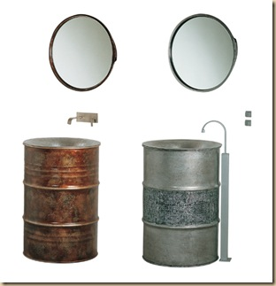 Five creatively recycled bathroom fixtures recyclenation for Recycled bathroom sinks
