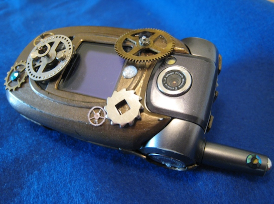 Steampunk cell phone1 Ten Incredible Steampunk Cell Phones