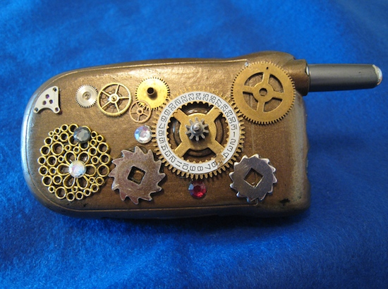 Steampunk cell phone2 Ten Incredible Steampunk Cell Phones