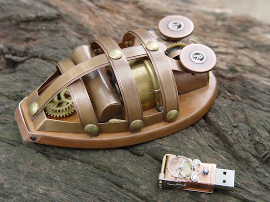 663c0541168eb16a861cd76ea70e6d39 Ten Incredible Steampunk Computer Mouse Mods
