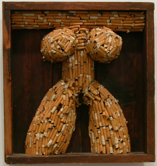 Al Hansen2 Seven Incredible Cigarette Art Pieces Portraying People and Animals