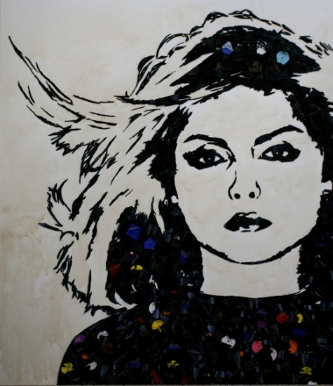 Blondie Music Icons Created from Shards of Broken Vinyl