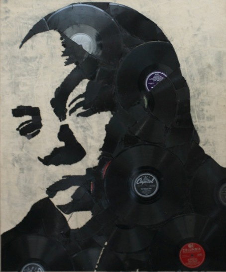 Dr Dre Music Icons Created from Shards of Broken Vinyl