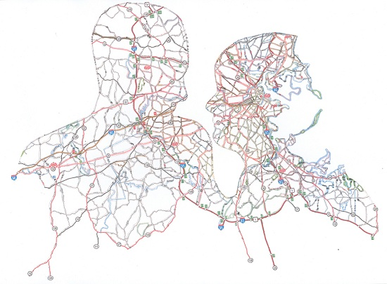 NR5 Dissected Street Maps Transformed into Human Bodies