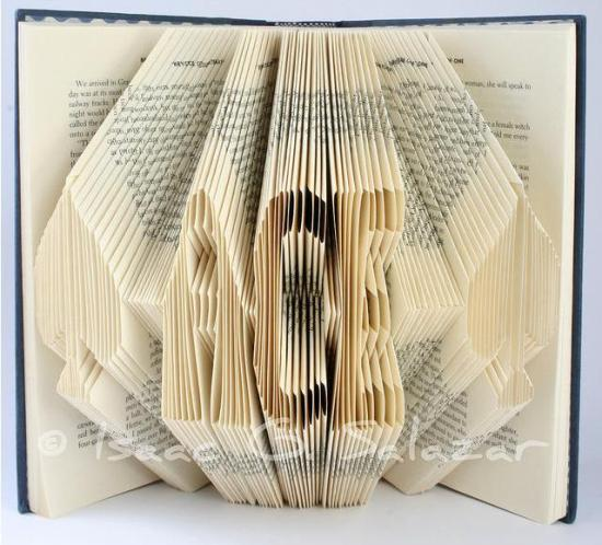 ace Books Transformed into 3 D Origami Symbols