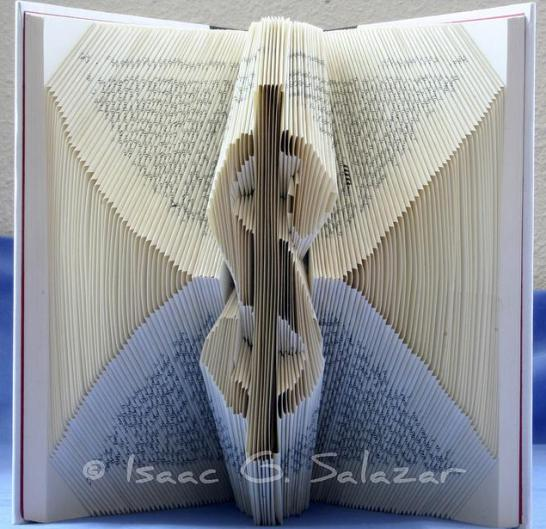 dollar sign Books Transformed into 3 D Origami Symbols