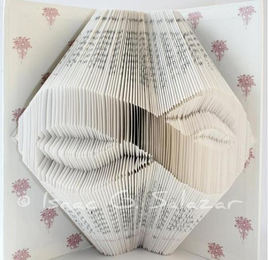 Books Transformed Into 3 D Origami Symbols Recyclenation