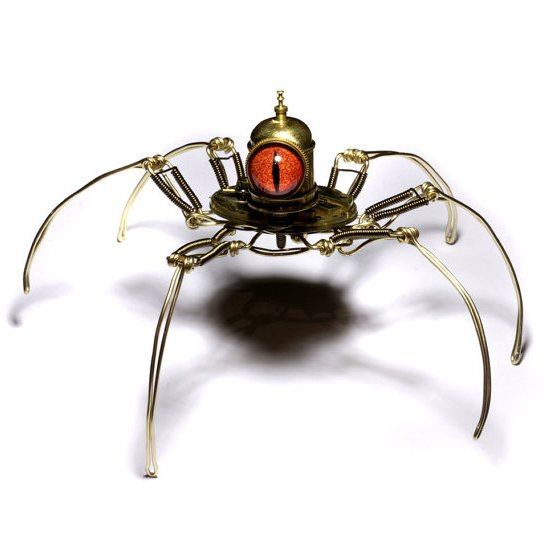 Steampunk Cyclopean Spiders Recyclenation