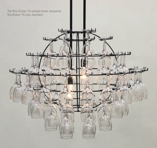 How to make 10 incredible chandeliers created out of everyday junk 5 wine glasses aloadofball Images
