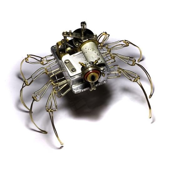 Steampunk Cyclopean Spiders Recyclenation