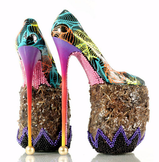 Seven Incredible High Heels Made out of Bizarre Materials