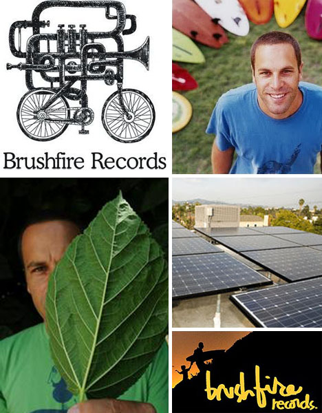 Brushfire Records recycling conservation