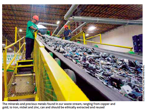 Electronic Recyclers International recycling belt