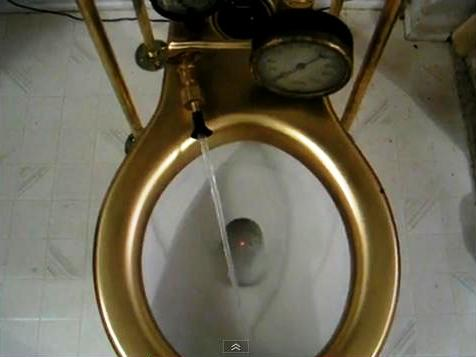 recycled steampunk bathroom fixtures