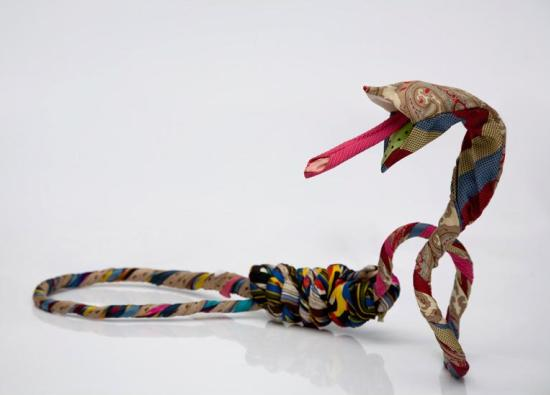 business ties recycled snakes