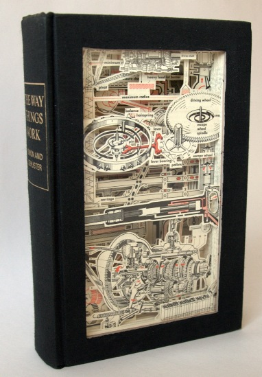 Way things work Old Books Dissected to Create Intricate 3 D Carvings