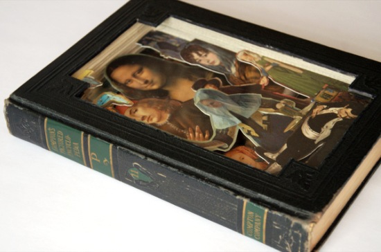 comptons pictured encycl Old Books Dissected to Create Intricate 3 D Carvings