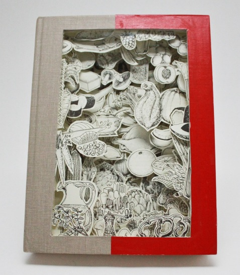 dissected recycled books