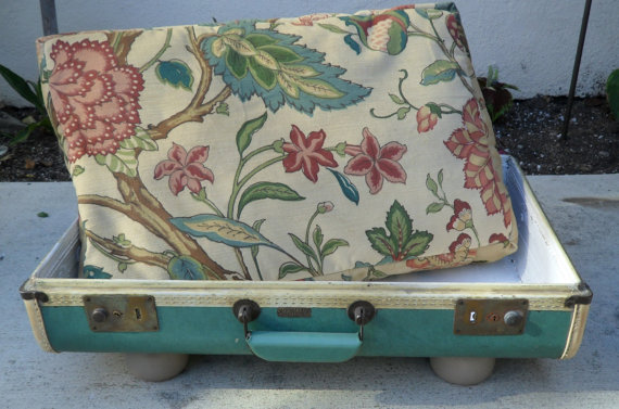 recycled suitcase pet bed