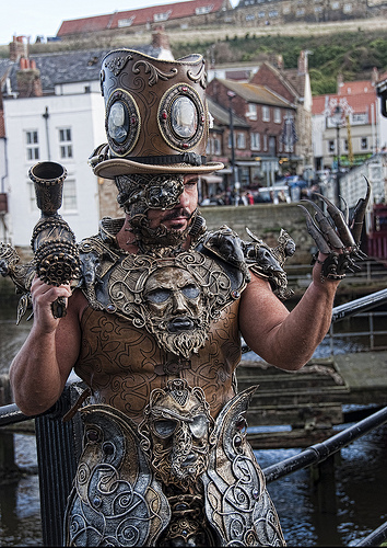 steampunk recycled armor