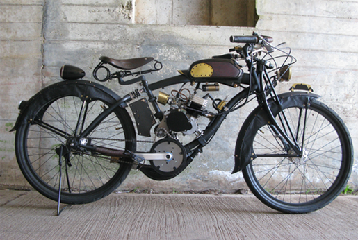 steampunk recycle motorcycle