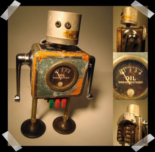 recycled robot household junk